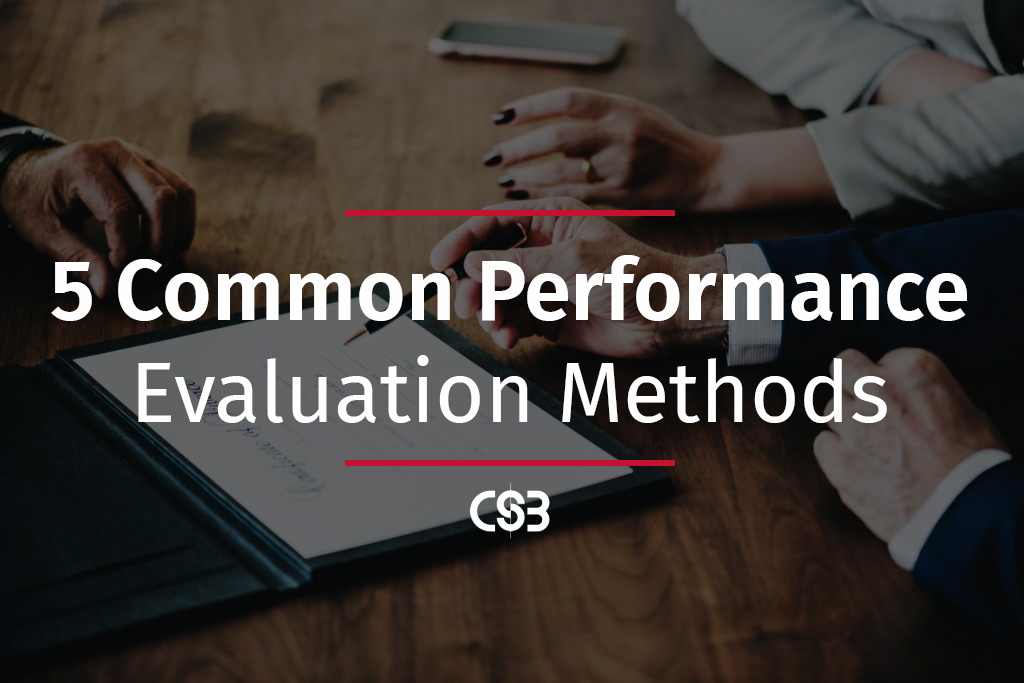 5-most-common-performance-evaluation-methods